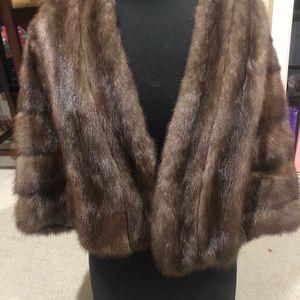 Vintage Mink Fur Cape Wrap Stole